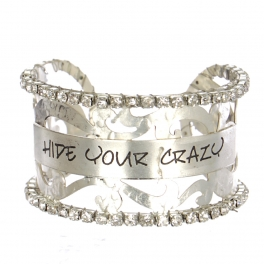 Wholesale Filigree cutout rihinesonte cuff - Hide Your Crazy S