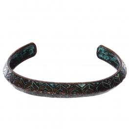 Wholesale WA00 Geometric pattern metal bangle OG