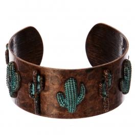 Wholesale WA00 Cacti metal statement cuff bracelet OG