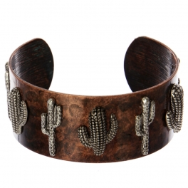 Wholesale WA00 Cacti metal statement cuff bracelet OG/SB
