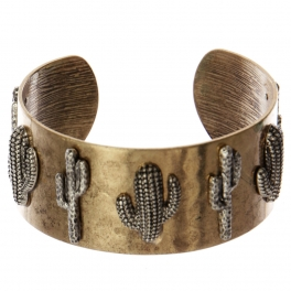 Wholesale WA00 Cacti metal statement cuff bracelet RGB/SB
