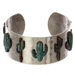 Wholesale WA00 Cacti metal statement cuff bracelet SB/OG