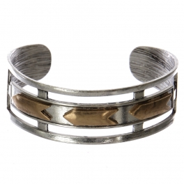Wholesale WA00 Mutli-arrows cutout metal statement cuff bracelet SB/RGB