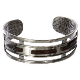 Wholesale WA00 Long arrow cutout metal statement cuff bracelet SB/OG
