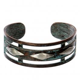 Wholesale WA00 Diamonds cutout metal statement cuff bracelet OG/SB