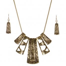 Wholesale N32A Tribal metal pendant necklace set  G