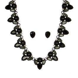 Wholesale WA00 Pear shaped stones necklace & earrings set BNBD
