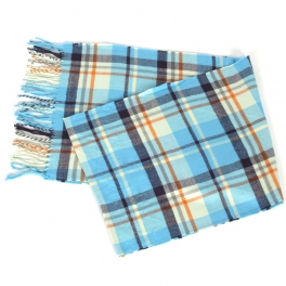 Wholesale O58A Plaid cashmere feel scarf #04