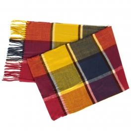 {[en]:Wholesale O58B Checkered pattern cashmere feel scarf