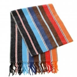 Wholesale P30B Colorful stripes cashmere feel scarf