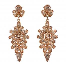 Wholesale WA00 Teardrop rhinestone cluster earrings GDPK