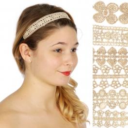 Wholesale M04D floral embroidered Headband Dozen