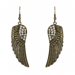 Wholesale M24E Metal Wings with Rinestones Earrings GBCRY
