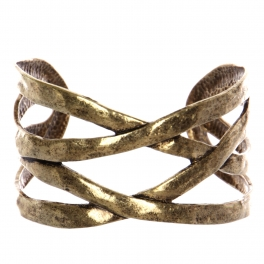 Wholesale WA00 Intertwined metal cuff bracelet RGB