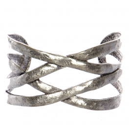 Wholesale WA00 Intertwined metal cuff bracelet SB