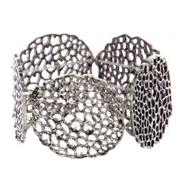 Wholesale WA00 Abstract holes cutout stretchable bracelet SB