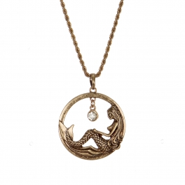Wholesale M28B Mermaid & rhinestone pendant necklace RGB