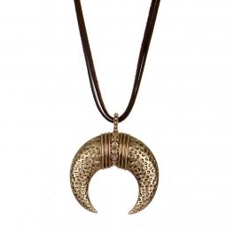 Wholesale M28B Crescent moon pendant necklace RGB