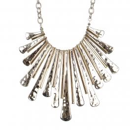 Wholesale M28C Tribal long bars statement necklace set SV.GD