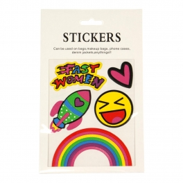 Wholesale WA00 Happy face PU sticker set for clothes & accessories
