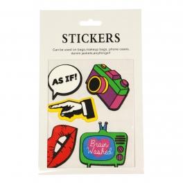 Wholesale WA00 Camera PU sticker set for clothes & accessories