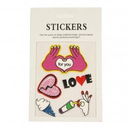 Wholesale WA00 LOVE PU sticker set for clothes & accessories