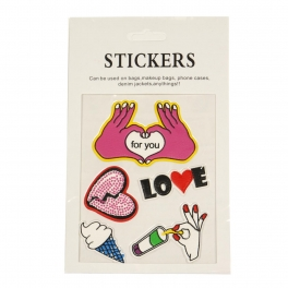 Wholesale WA00 LOVE PU sticker set for clothes & accessories