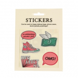 Wholesale WA00 OMG PU sticker set for clothes & accessories