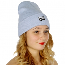 """Wholesale P27A """"Hold on"""" embroidered beanie BL"""