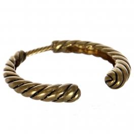 Wholesale WA00 Simple cord metal bangle WG