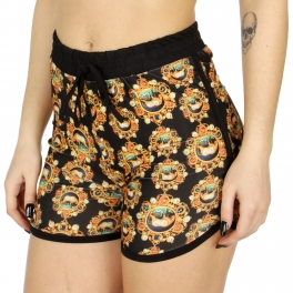 Wholesale E05E jewelry print jogger shorts