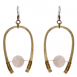 Wholesale WA00 Horseshoe & stone earrings GB