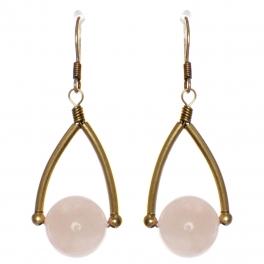 Wholesale WA00 Wishbone & stone earrings GB