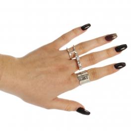 Wholesale WA00 Rhinestone studded three rings set RCL