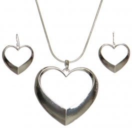 Wholesale WA00 Heart ring pendant necklace set S