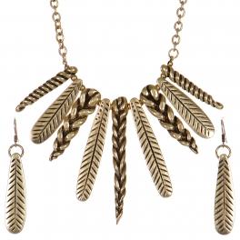 Wholesale WA00 Feather & braids necklace set GB