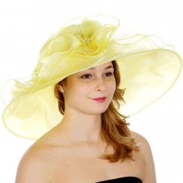Wholesale TX50 Multi layer brim dress hat YL