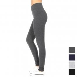 Wholesale A23B Comfort waist cotton Active pants  Black Plus size