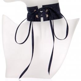 Wholesale WA00 Denim corset chocker DBL