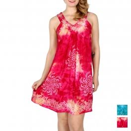 Wholesale K25D Sun spangles V-neck dress