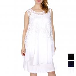Wholesale J10A Floral lace & chiffon 2pcs short dress