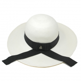 Wholesale V03B Premium handmade round top Panama hat from Ecuador White