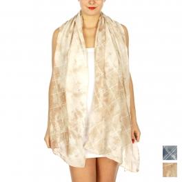 Wholesale BX00 Tie dye & check stripes scarf BG