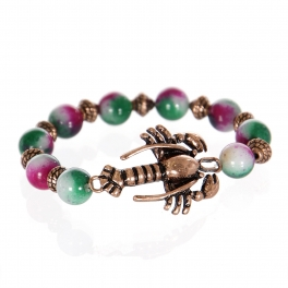 Wholesale WA00 Lobster w/ color stone charm bracelet CB