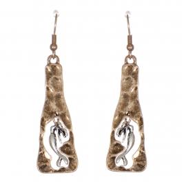 Wholesale WA00 Metallic mermaid dangling earrings RGB.SB