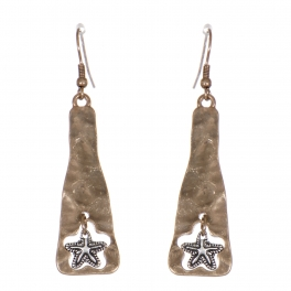 Wholesale WA00 Metallic anchor dangling earrings RGB.SB