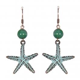 Wholesale WA00 Starfish dangling earrings OG