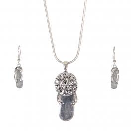 Wholesale WA00 Lovely flip-flop necklace earrings set SV