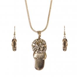 Wholesale WA00 Lovely flip-flop necklace earrings set GD