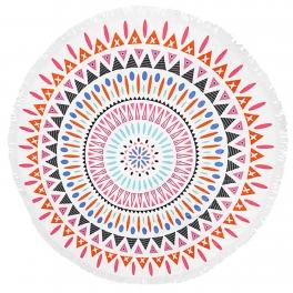 wholesale I40C Geometric vortex round beach shawl and blanket